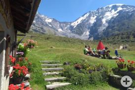 Pause inmitten der Berge