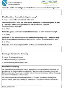 Kinderbetreuung Fragebogen Seite 2