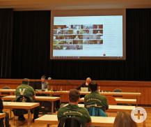 Die erste digitale Gemeinderatssitzung.  (Bild: Gemeinde Waldbronn)