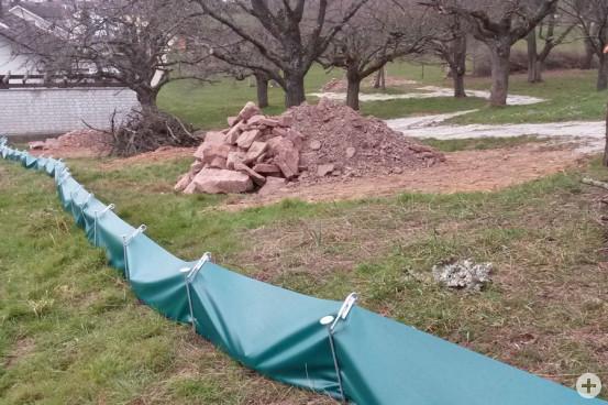 Von der Gemeindegärtnerei wurde im Randbereich der Gärtnerei ein spezielles Habitat angelegt, in denen sich die Eidechsen nach ihrer Umsiedelung wohlfühlen können.  (Bild: Gemeinde Waldbronn)