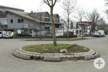 Die Bauminsel im Wendekreis im Ermlisgrund wird im Herbst zurückgebaut.   Bild: Gemeinde Waldbronn