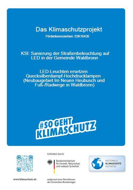 Klimaschutz Sanierung der Straßenbeleuchtung auf LED