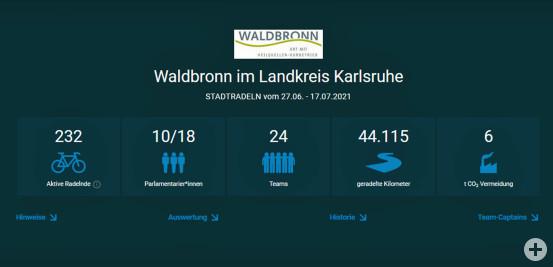 Ergebnis STADTRADELN 2021